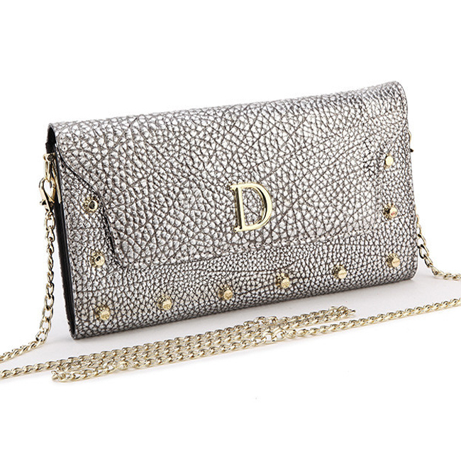 Fashion Day Clutches Women 's Genuine Leather Evening Bags Luxury D Letters Design Handbag Chains Shoulder Bag F2281(China (Mainland))