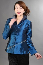 Navy blue Fashion 2014 New Chinese tradition Style Women MontherJacket Coat Outerwear Long Sleeves Size: M,L,XL,XXL,XXXL MN056 - Costume store