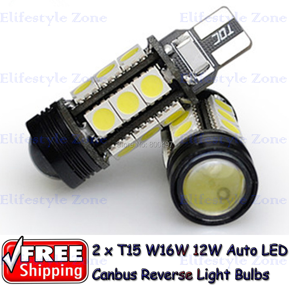 2 x T15 W16W LED COB + 15 SMD Super White Canbus Bulbs Reverse Light Tesla Honda Volkswagen Lada  -  Elifestyle Zone Co., Ltd. store