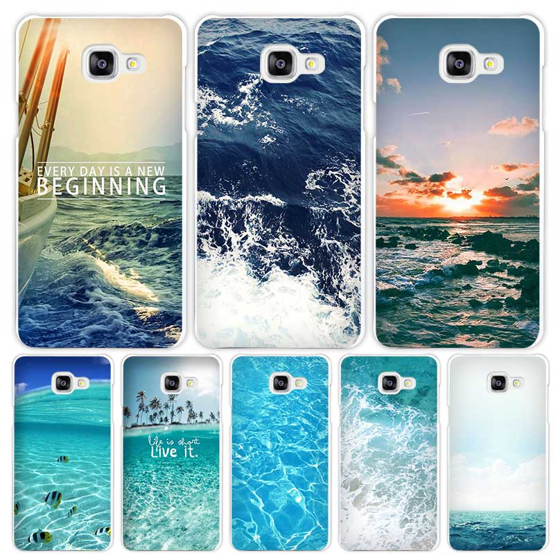 sea ocean Hard White Coque Shell Case Cover Phone Cases Samsung Galaxy A3 A5 A7 2016 2017 A8 A9