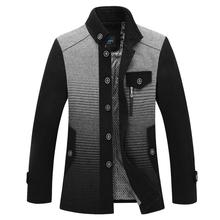 2015 Fashion Men Casual Wool Trench Coat(China (Mainland))