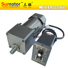 Buy 90W AC 220-240V 50/60HZ low speed electric geared reducer motor speed controller CW CCW industrial Variable speed Optional for $188.00 in AliExpress store