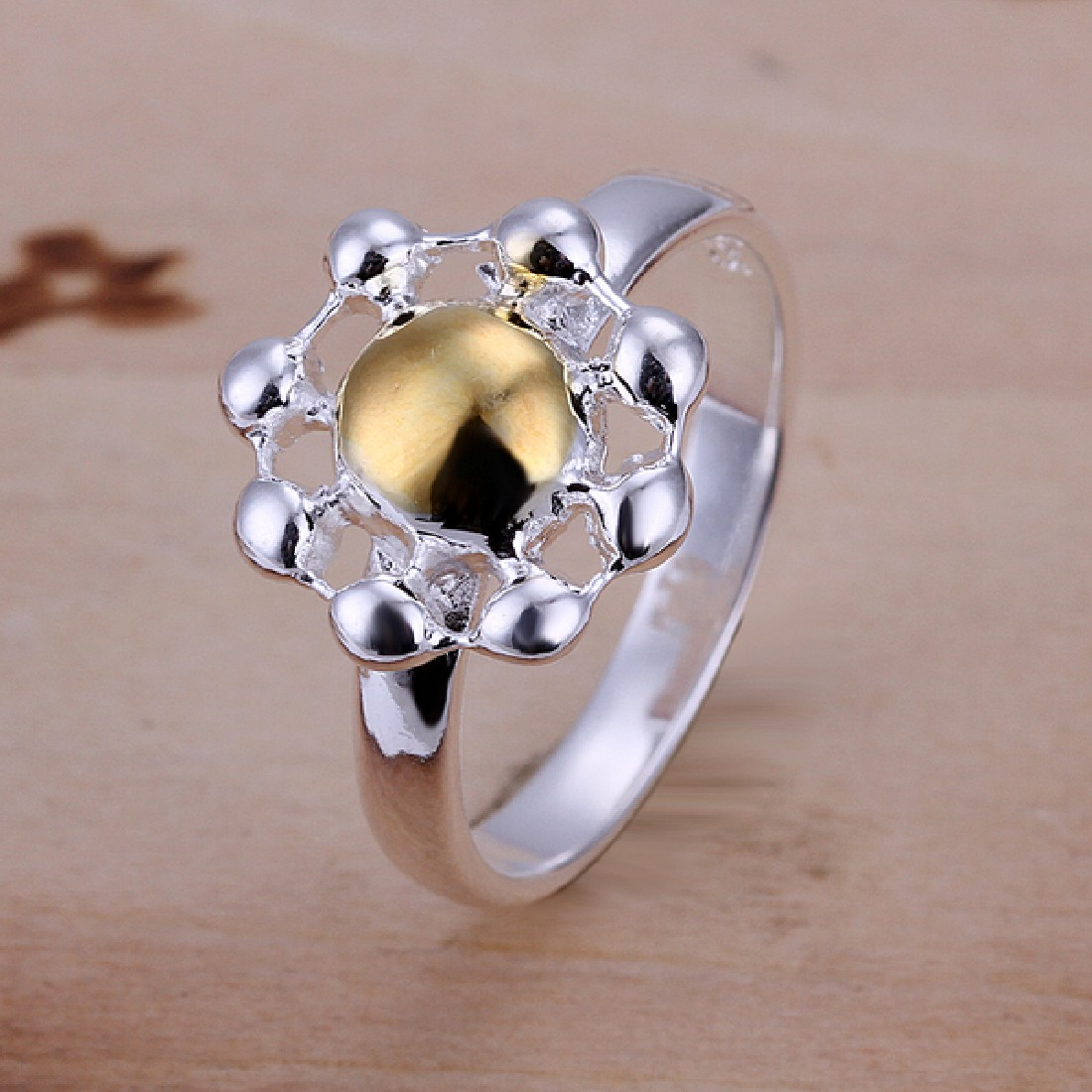 Lose Money Promotions! 925 silver ring, 925 silver fashion jewelry, Chrysanthemum Ring R112(China (Mainland))