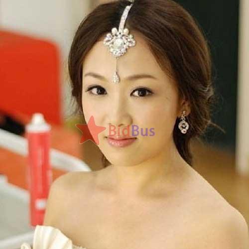 Bidbus Fast Fashion Ladies India Princess Super Flash Rhinestone Frontlet Hairpin LC0757(China (Mainland))