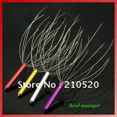 "Y92"" 10pcs/lot Neck Scalp Massage ,Head Massager Equipment ,Stress Relax ,stainless steel handle /manual health care(China (Mainland))"