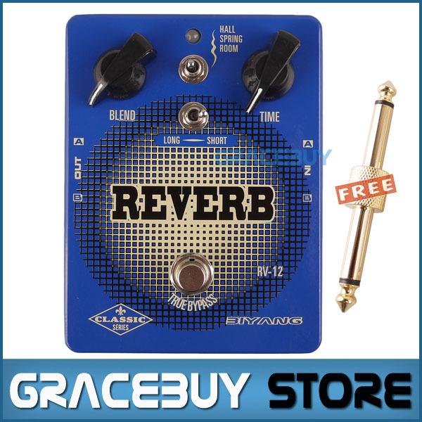 Electric Guitar Pedal Rackmount Reverb Effect Custom Blue Biyang True Bypass Guitarra Pedaleira New Brand<br><br>Aliexpress