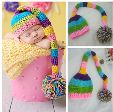 Cotton Newborn Photography Props Caps Infant Toddler Handmade Knitted Crochet Baby Hat Cap With Animal Style For Gift Hot Sale(China (Mainland))