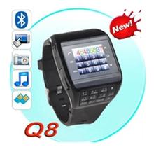 Hot!1.4inch Touch Screen Watch Phone Q8 Dual SIM Card Slot  Camera Bluetooth Keyboard MP3/MP4 GSM/GPRS