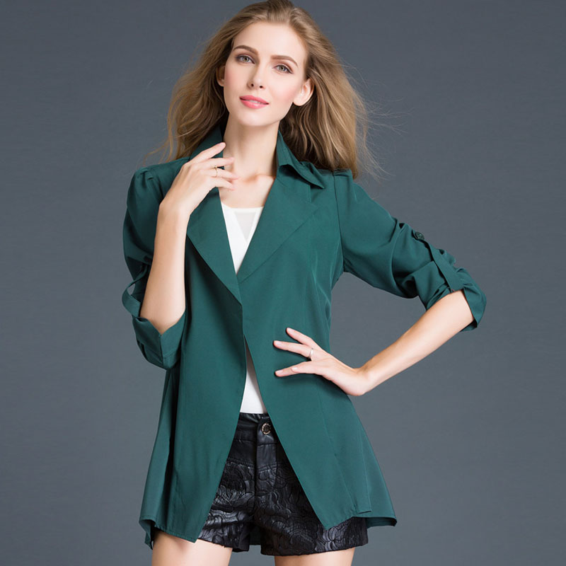2016 plus size loose thin outerwear female spring long-sleeve medium-long casual all-match cardigan trench femaleОдежда и ак�е��уары<br><br><br>Aliexpress