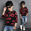 Boys T shirt bottoming 2016 new autumn and winter fashion casual sweater big virgin child sweater