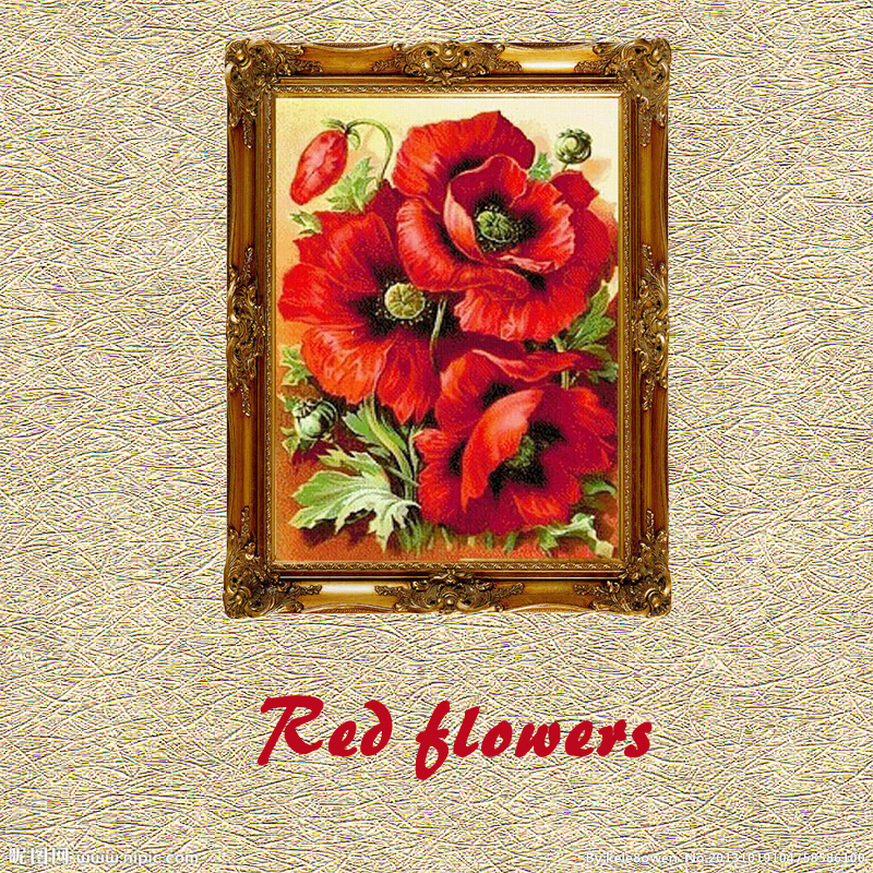 Romantic DIY Diamond Mosaic Pictures For Living Room Flowers Rainbow Rose Red HandMade Diamond Paintings Cross Stitch Kits(China (Mainland))