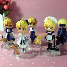 Classic Anime Nendoroid 358 Fate/Stay Maid Night Saber PVC Action Figure Toy Doll Men Christmas Gift Free shipping