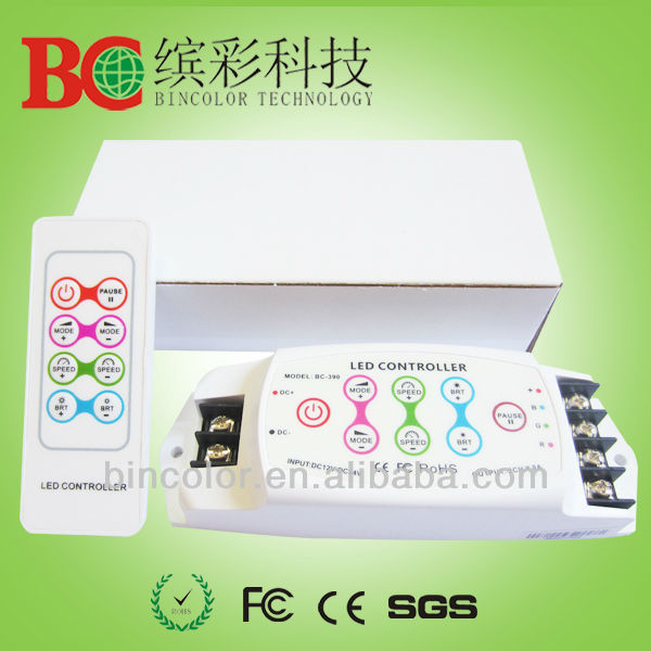 RGB controller DC12-24V touch key RGB led controller 8 keys remote LED Controller Free Shipping NOT for DHL remote area(China (Mainland))