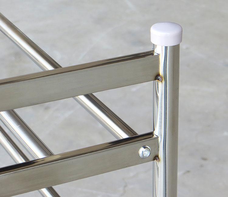 10 stainless steel shoe rack multi-layer welding thicker metal debris simple widening balcony<br>