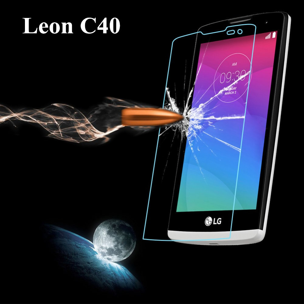 For LG Leon H340 Leon 4G LTE H340N C40 Tempered Glass Screen Protector Premium Front Clear Protective Film Cover(China (Mainland))