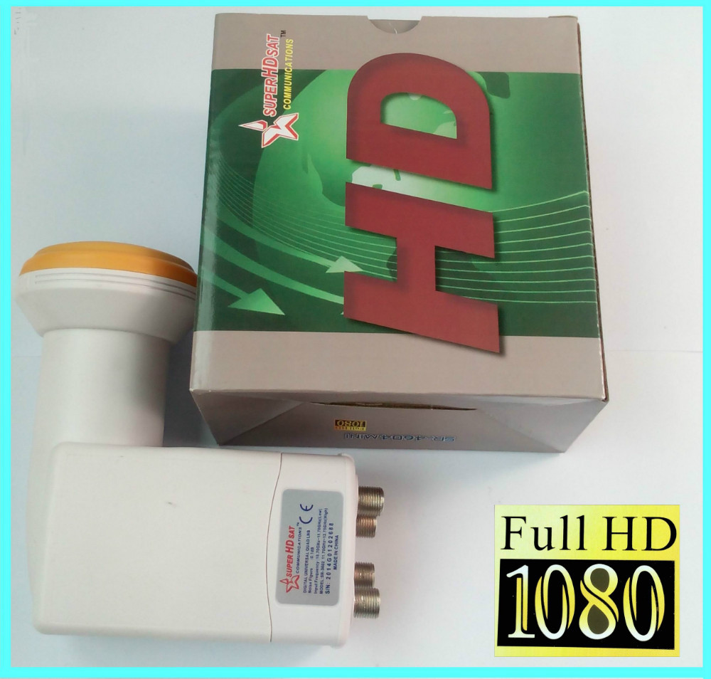 SUPER HD SAT UNIVERSAL QUAD LNB KU MPEG4 1080P FULL HD(China (Mainland))