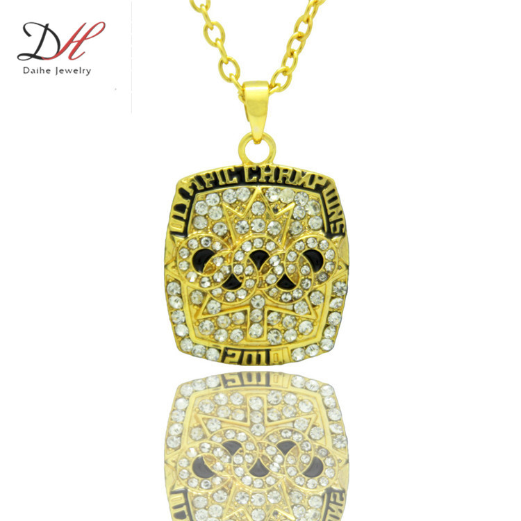 Daihe NC4659 New Sport Jewelry Canada Ice Hockey 2010 Championship Necklace For Men and Women Necklaces, Couple Gift Jewelry(China (Mainland))