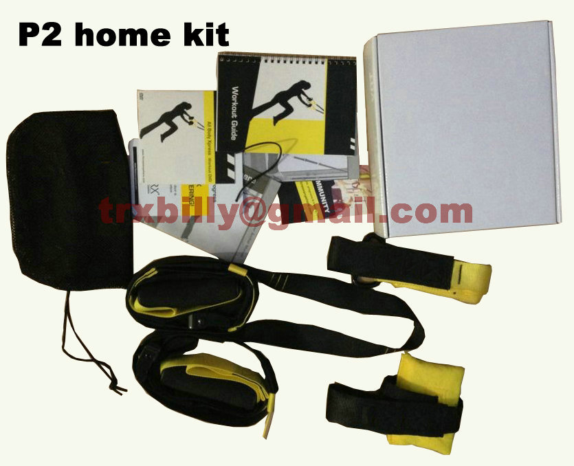 New Home P2kit Exerciser Training Fitness Equipment Hanging Belt Resistance Set with logo door anchor course