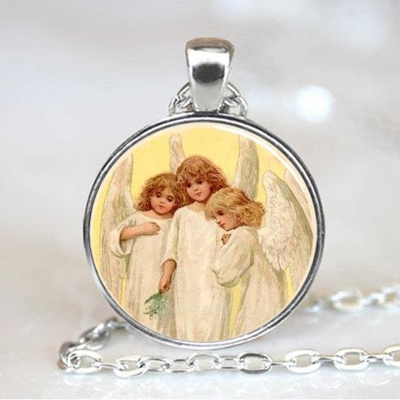 (1 piece/lot) Three Little Angels Handmade Necklace Pendant(China (Mainland))