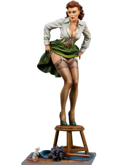 Resin  Model 1/22   80mm Poker Girl B  Free Shipping<br><br>Aliexpress