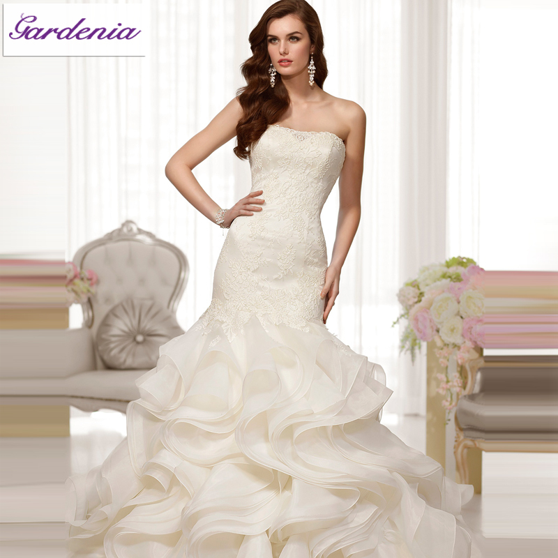2014 design your own wedding dress ivory mermaid strapless for Design ur own wedding dress