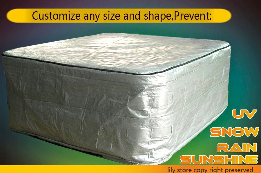 thermo spa cover bag special for cold countries, size 204cmx204cnx70cm, customize any size,shape hot tub cover guard(China (Mainland))