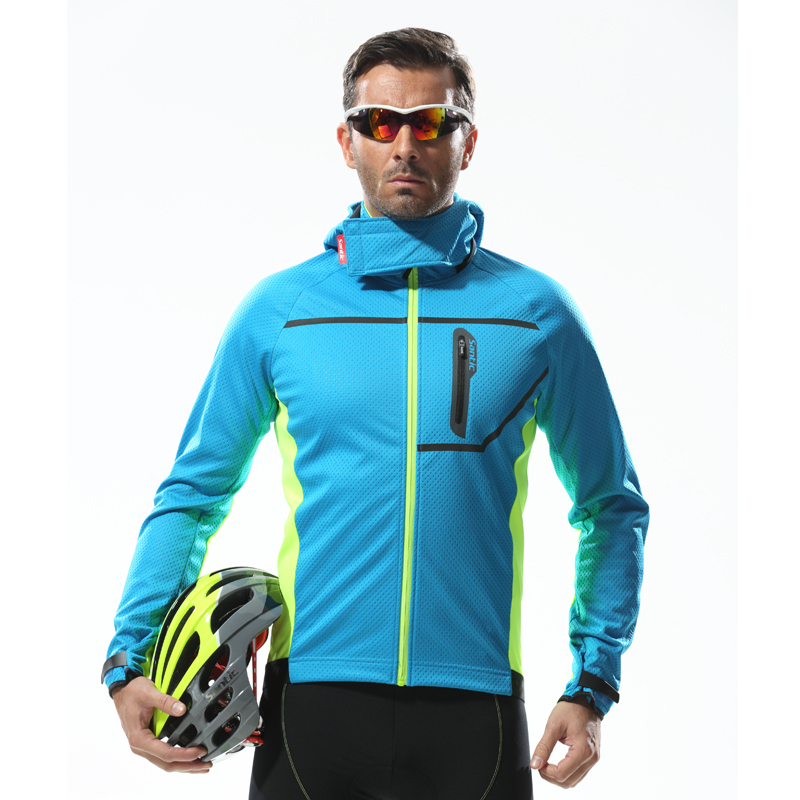 Здесь можно купить  2015 Santic Men Cycling Jacket Bike Winter Fleece Cycling Jackets Thermal Cycling Clothes Cycling Windproof Jackets Male MC01054  Спорт и развлечения