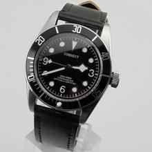 Corgeut 41mm Black Bezel steel case Sapphire Automatic Miyota8215 AUTOMATIC Movement Mens Watches(China (Mainland))