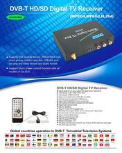 100km/h one Antenna Car DVB-T Mobile Digital TV Box External USB Car TV Receiver Russian Europe Southeast Asia P004(China (Mainland))