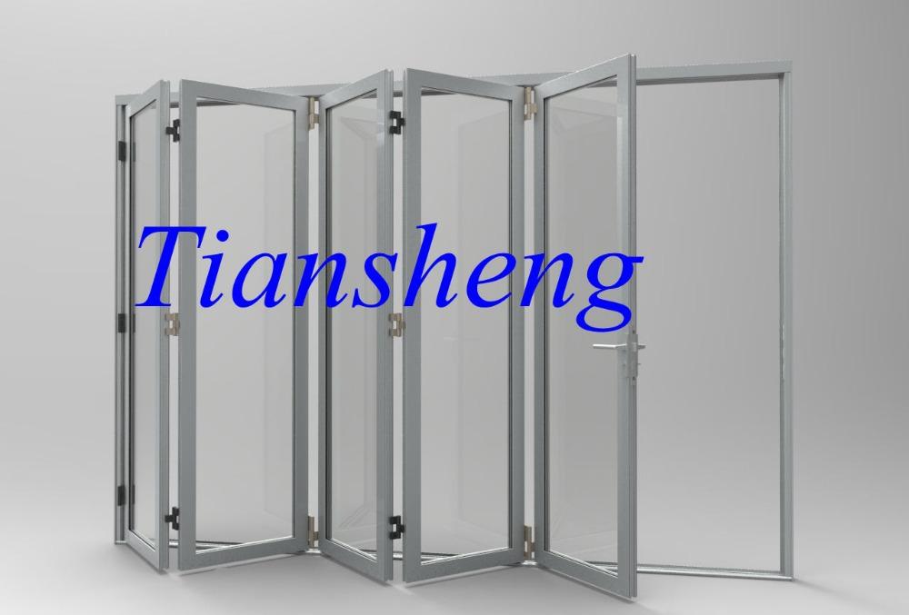 Columpio balc n de aluminio abertura bi puertas plegables - Puertas plegables de aluminio ...