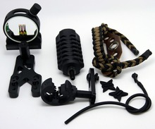 Upgrade Kit Archery Compound Bow archery combo Stabilizer Optic Sight Arrow Rest Peep String 6in1set arrow