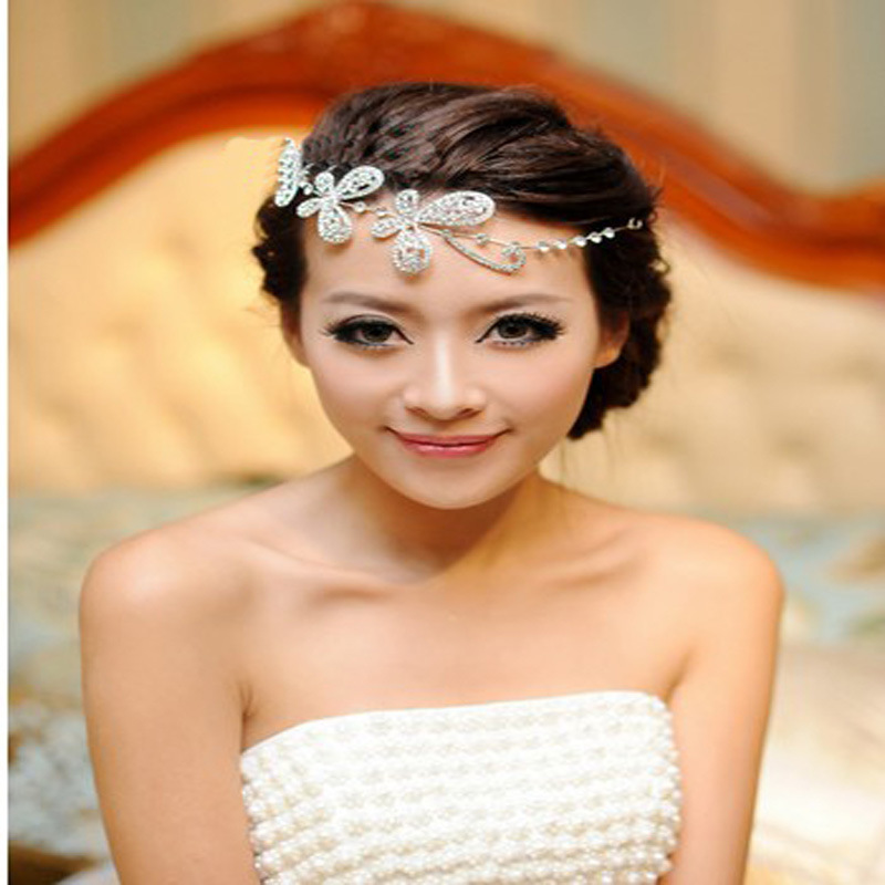 Fashion crystal bridal hairband wedding hair accessories handmade jewelry H43 - Kay's Wedding store