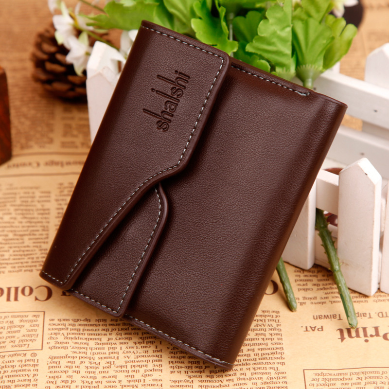 New Arrival Leather Fashion Men Wallets Short Business Card Package Bag Money Pusres Coin Holder Bags