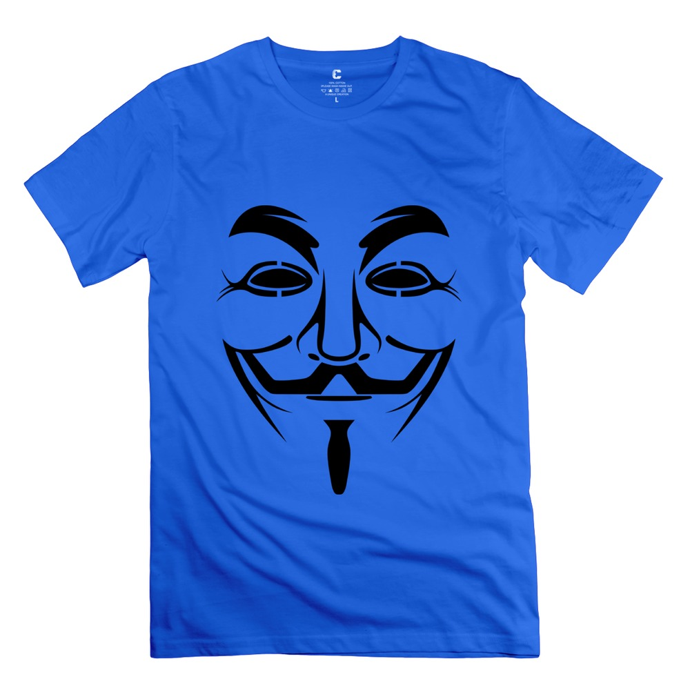 2015 hot Anonymous Guy Fawks Mask t shirt music organic cotton mens Funny t-shirt for adult(China (Mainland))