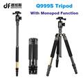 Q999S Portable travel 6KG bear dslr monopod stand professional digital camera tripod for slr video tripodes