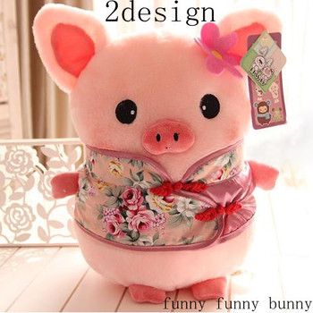 1pcs 30cm new big size easter china style Tang suit plush toy pigs stuffed animal with big eyes wedding gift for girlfriend baby