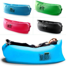 Gonflable Salon Portable Rêve Chaise Air Canapé Sac avec Poche Plage Camping En Plein Air de Couchage Paresseux Lit Noir(China (Mainland))