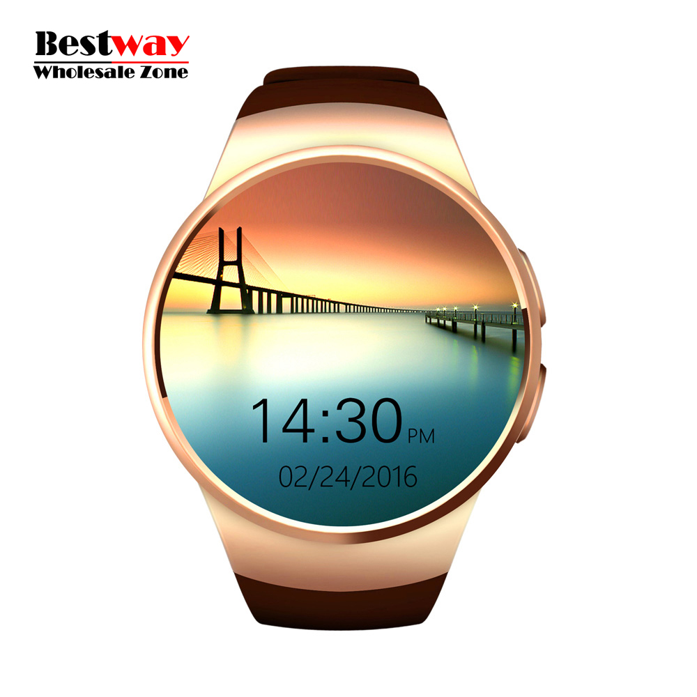 Фотография DHL Free Shipping 20pcs/lot Wholesale KW18 Reloj Inteligente Heart Rate Monitor Watch Smartwatch Android Orologio Bluetooth SIM