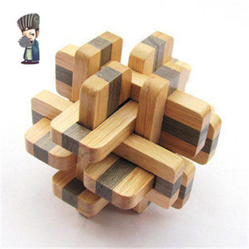 Game cube puzzle brain teaser educational toys Chinese traditional wooden Kong Ming Lock 'Bicolor Twelve Sisters' puzzles(China (Mainland))