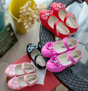 Childrens single shoes 2016 spring girls loafers princess fashion kids party leather bow wedding shoes infantis 541b<br><br>Aliexpress