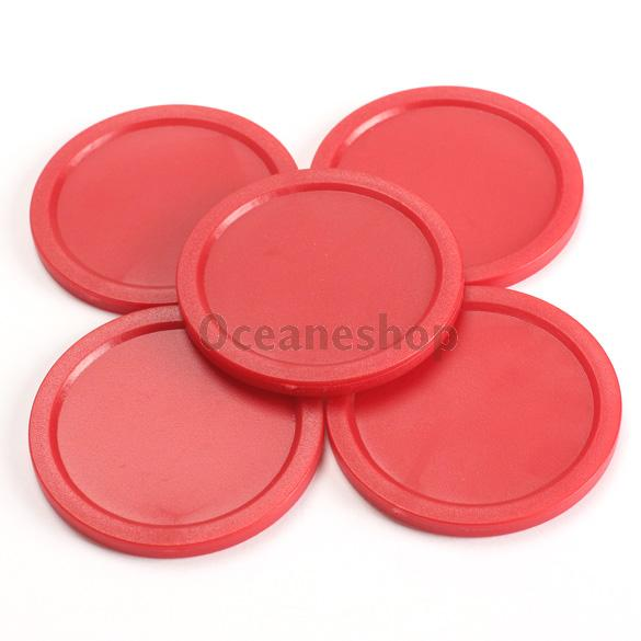 5Pcs Red 2-inch Mini Air Hockey Table Pucks 50mm Puck Children Table New(China (Mainland))