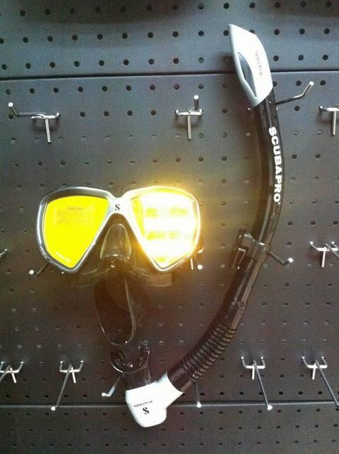 Scubapro spectra reflective uv + spectra snorkel