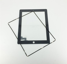 1 X Black for iPad 2 New Touch Screen Glass Digitizer Lens Replacement For iPad2 Front Glass Panel + Frame +Tools(China (Mainland))