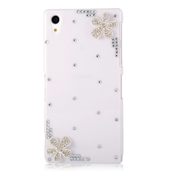 3D bling Rhinestone covers For sony Xperia C S39H C2305 bling crystal rhinestone case clear hard back cover(China (Mainland))