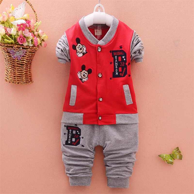 New Spring Autumn Children Clothing Sets Cartoon Boys Sports Suit Baby Boys Coat+Pants 2pcs Kids Clothes Set children tracksuit