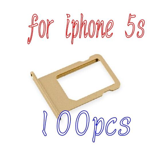 Здесь можно купить  100% New Original Nano Sim Card Tray Slot Holder for iPhone 5s golden Free Shipping  Телефоны и Телекоммуникации