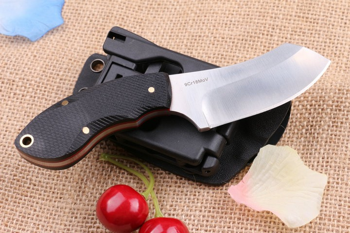 Buy Hunting hot straight Stainless Steel Tactical Fixed Blade Knife K Sheath outdoor survival EDC tools camping kitchen knives cheap