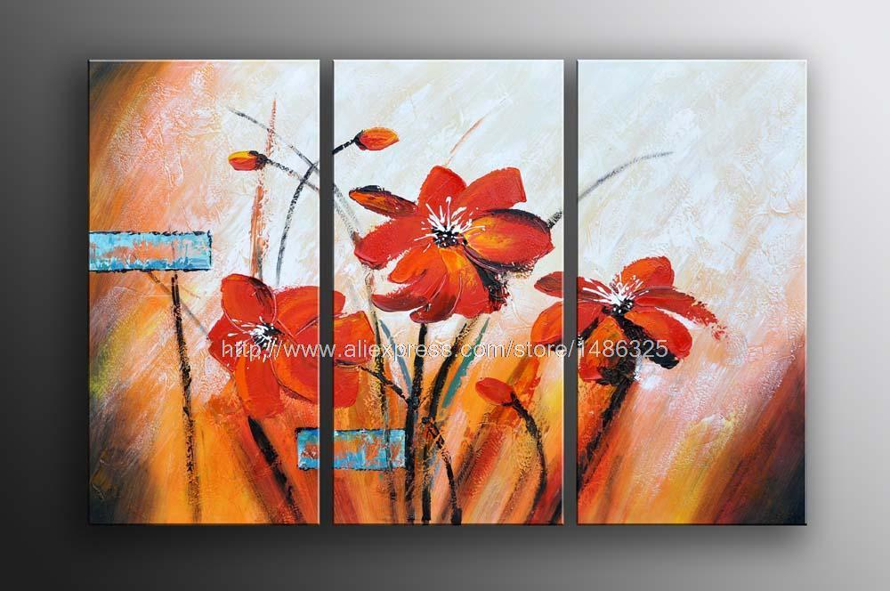 Hot Sale Huge Modern Abstract Floral Art Oil Painting On Canvas Oil Painting Floral Canvas Wall Art Wall Hand Classical B(China (Mainland))