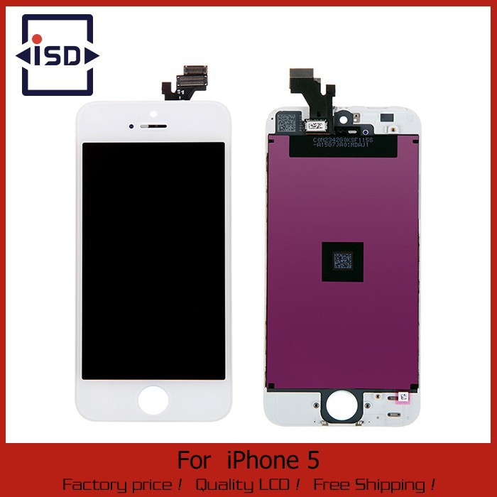 For iPhone 5 5S 5C LCD Screen Display With Touch Screen Digitizer Assembly White Or Black Color Fast Shipping 100% Guarantee