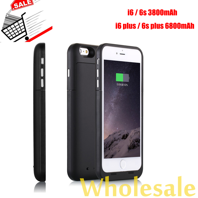 3800/6800mAh For iPhone6 6s plus Power Case Mobile Charger Cover Backup Battery Pack Extend Battery Case Powerbanks for iPhone 6(China (Mainland))